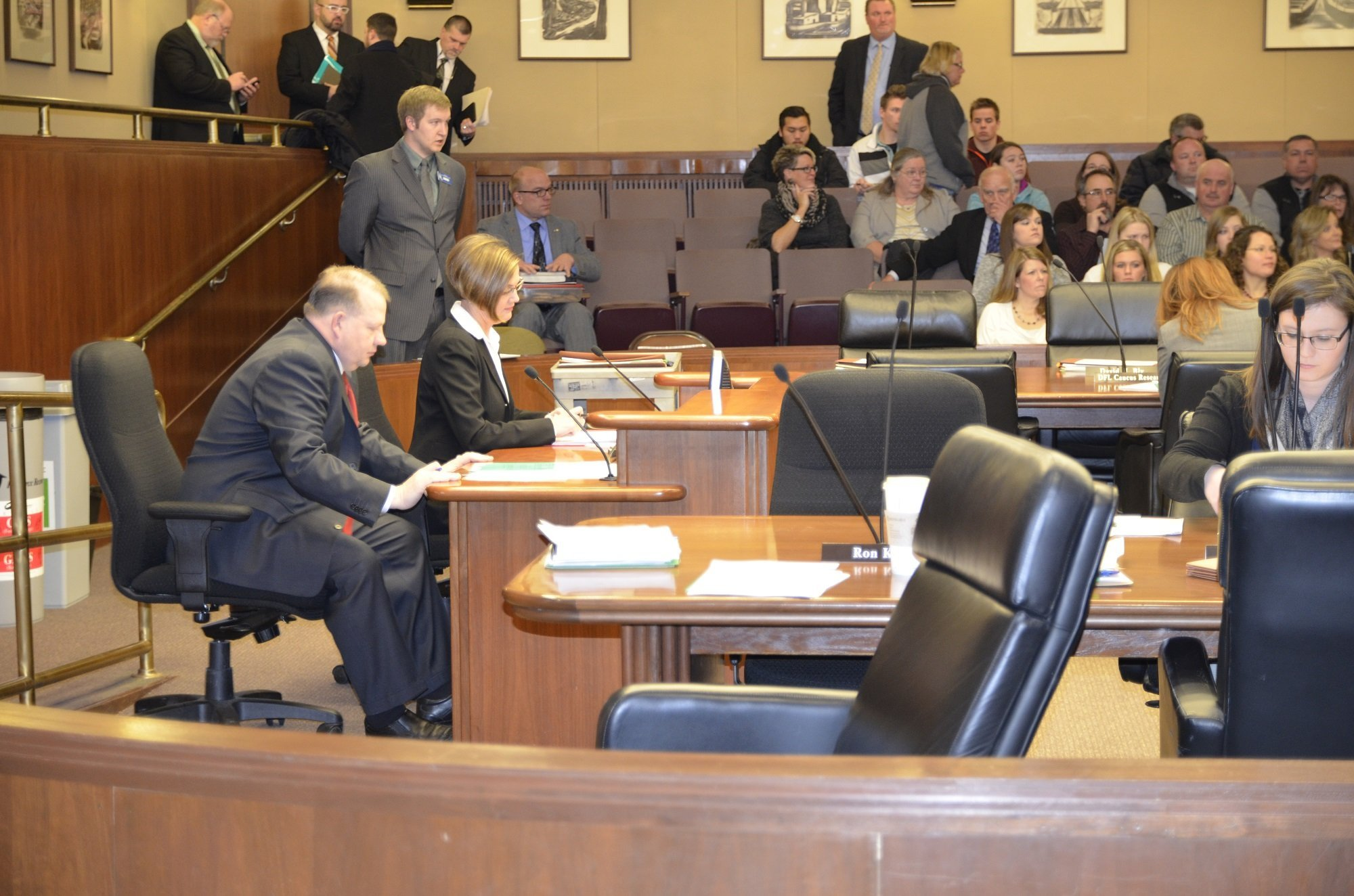 Rep. Ron Kresha (left) and Rep. Kim Norton brought separate school start date bills Tuesday to the House Education Innovation Policy Committee.