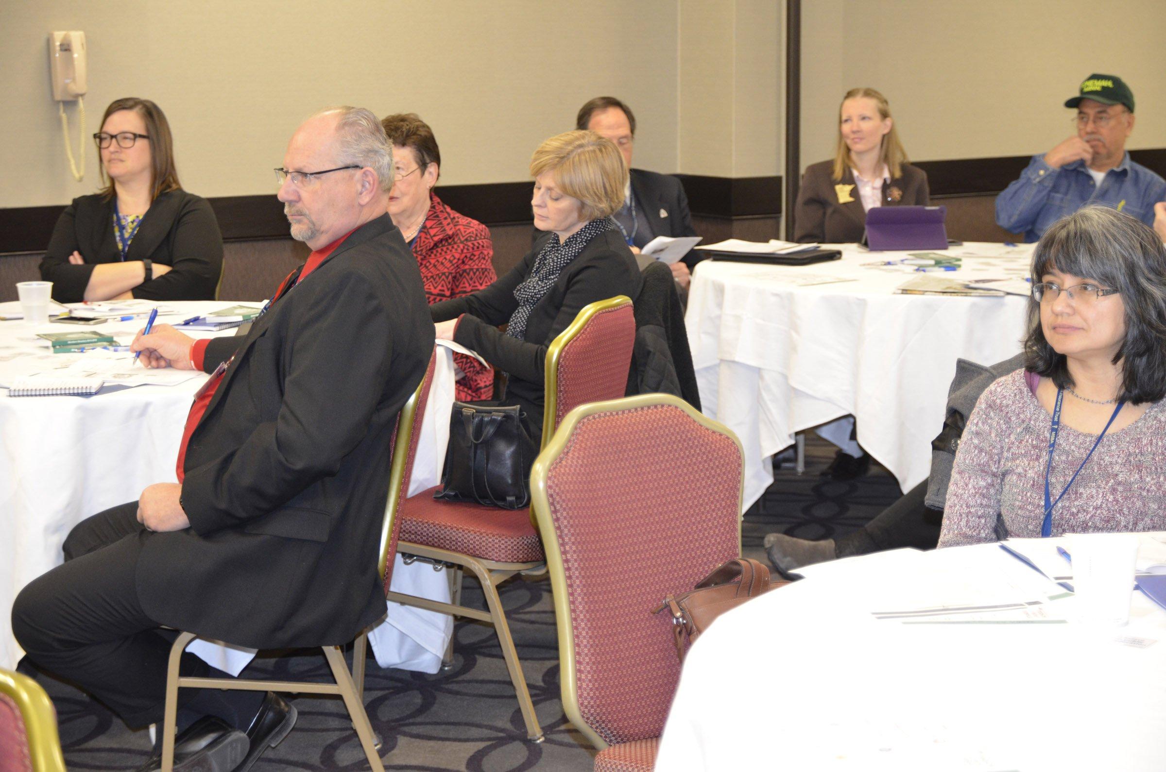 Sixty MSBA members attending Thursday's Joint Legislative Conference.