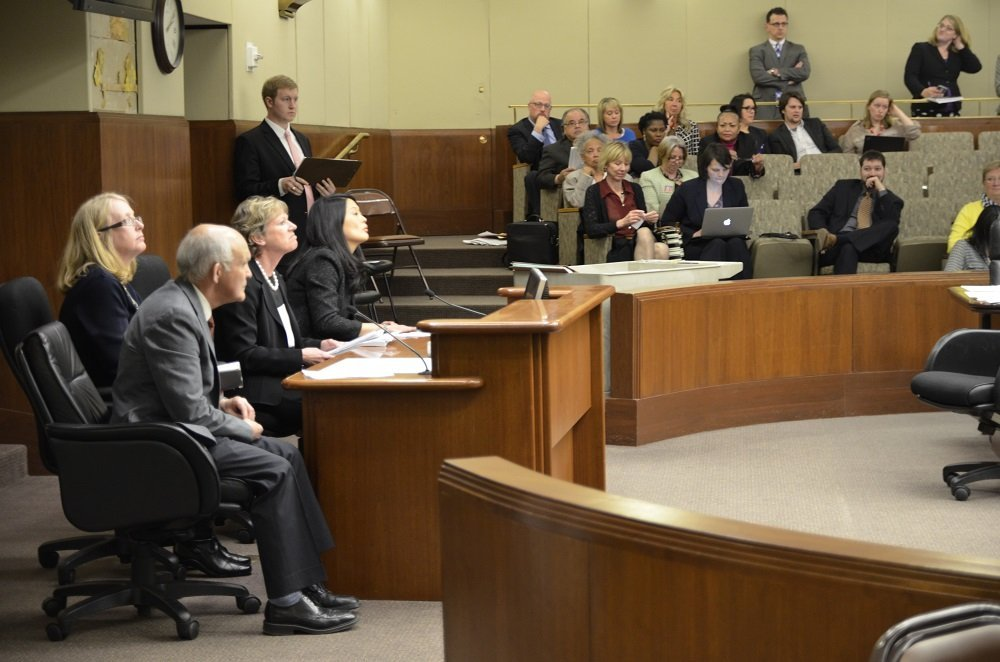 A group from the Stillwater Area School District (including board members Kathy Buchholz, Paula O'Loughlin and Mike Ptacek) told House and Senate committees the damage underfunding education would cause their schools.