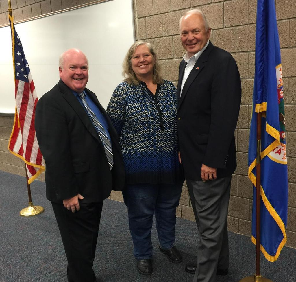 Great to see School board members Lakeville Area School Board members Jim Skelly, Michelle Volk and Bob Erickson (not pictured) were among the school leaders to meet with U.S. Rep. John Kline.