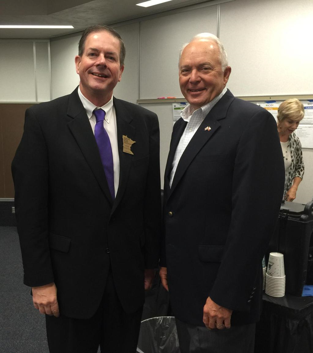 MSBA President Kevin Donovan had great meeting with U.S. Rep. John Kline on NCLB reauthorization.
