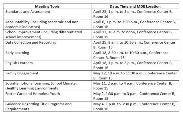 MDE-ESSA-Schedule-2016