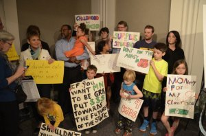 A large number of concerned students attended Monday's press conference.